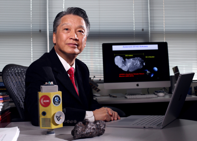 Iowa State University's Bong Wie is taking a practical, engineering-centric approach to saving the planet from asteroids. Larger photo. Photo by Christopher Gannon. - See more at: http://www.news.iastate.edu/news/2016/04/06/asteroiddeflection#sthash.VRWDtJZB.dpuf