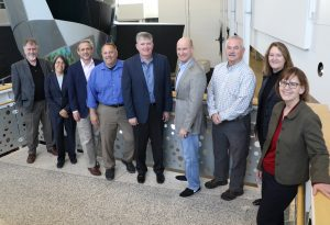Members of the Aerospace Engineering Industrial Advisory Council, 2019, with Interim Department Chair Alric Rothmayer.