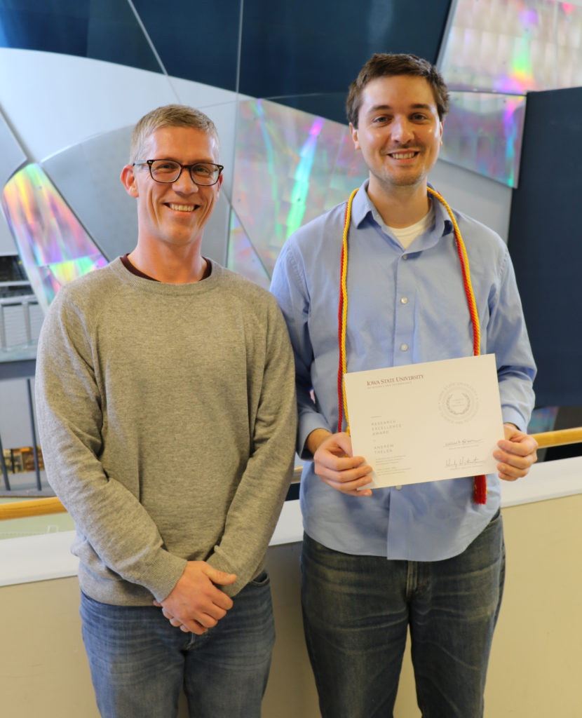 Andrew Thelen with Dr. Leiffson