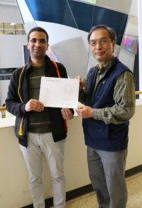 Bishoy Dawood with Dr. Chiou