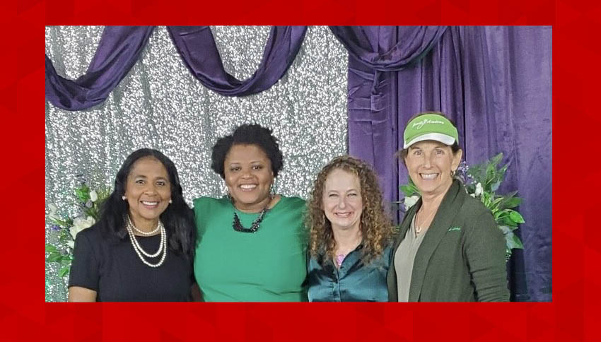 Kristin Rozier with group at Jewels Academy event